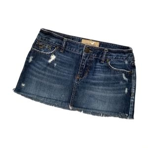 Hollister blue jean mini skirt  3